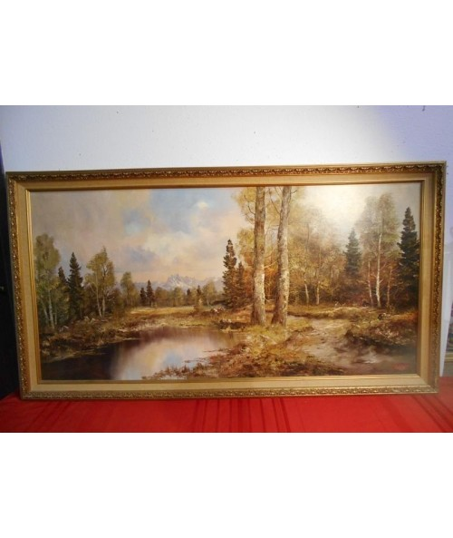 Large Lithograph Painting