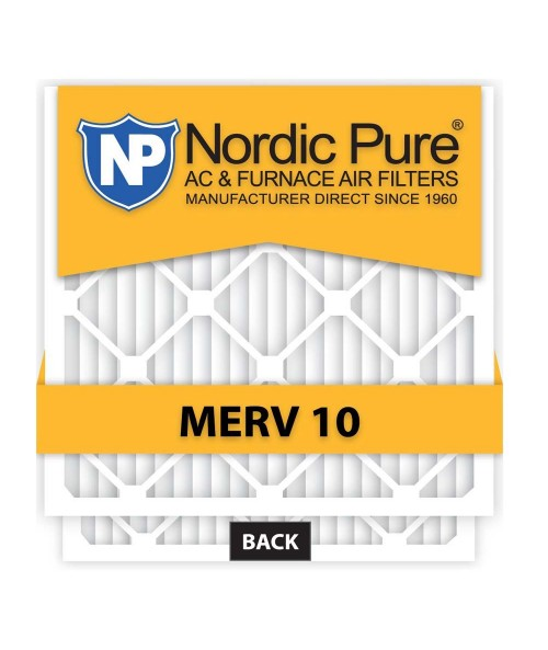 Nordic Pure 10x20x1 AC Furnace Air Filter