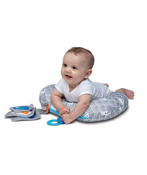 Boppy Tummy Time Pillow, Sea Explorers Gray