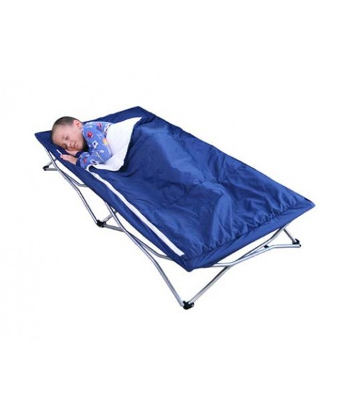 Regalo My Cot Deluxe with Sleeping Bag, Navy