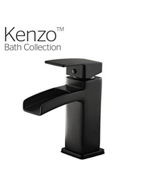 Pfister GT42DF0B Kenzo Single Control Waterfall 4 Inch Bathroom Faucet