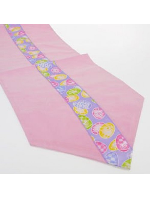 Easter Egg Fabric Table Runner 6' x 12""