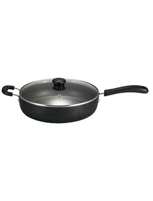 T-fal Pan with Glass Lid Cookware, 5-Quart