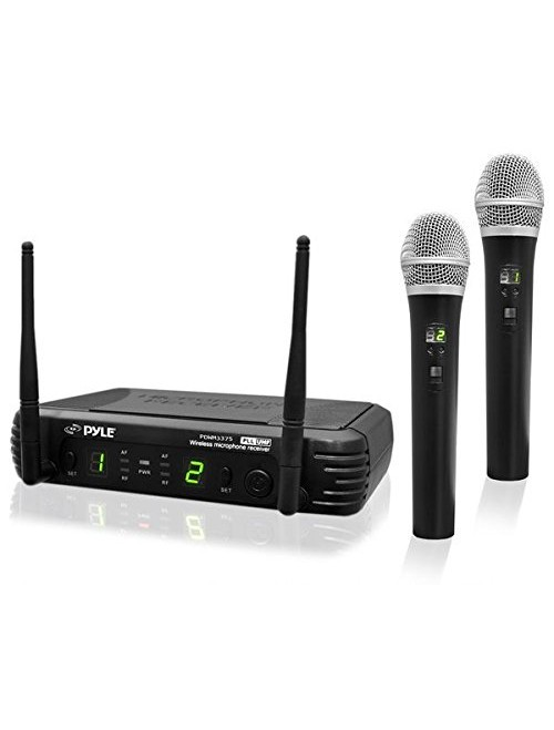 PylePro Premier Series Professional 2-Channel UHF Wireless Microphone System