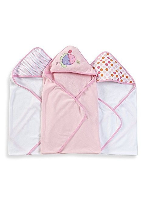 Spasilk 3 pack Soft Terry Hooded Towel Set & 20 washclothes