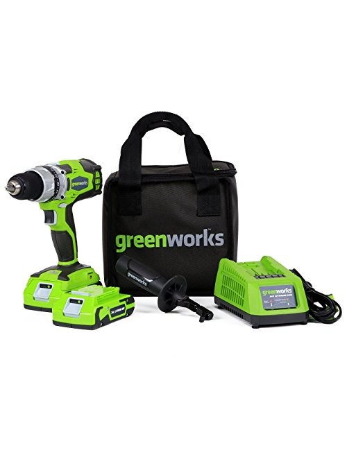 Greenworks 24V Cordless DigiPro 2-Speed Drill with Batteries and Charger