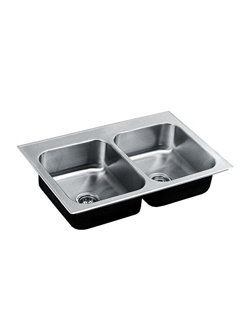 Just CDL2233B4 Double Bowl, 20 Gauge Stainless Steel Sink