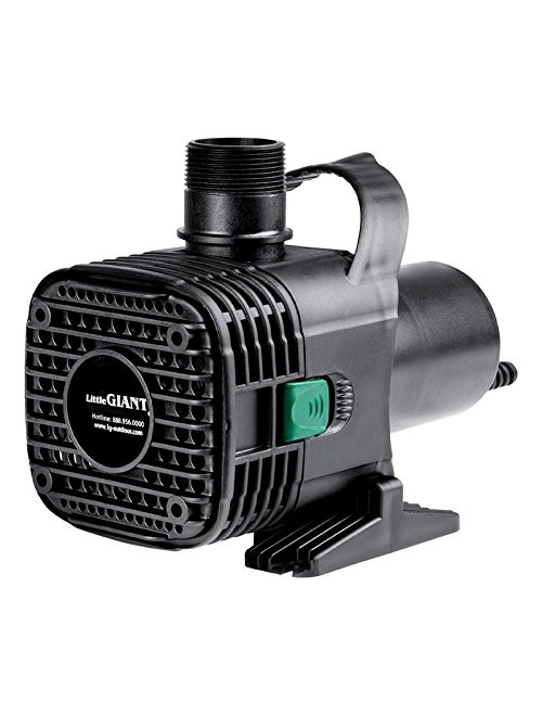 Little Giant F30-4000 Wet Rotor Pump with 20-Feet Cord, 4000GPH