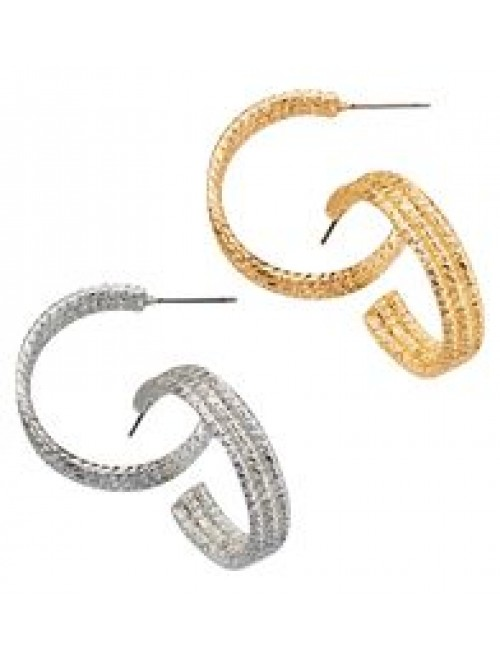 Avon triple row goldtone Earrings