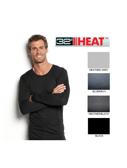 32 Degrees Heat (Color: Black, Size: L) Crew Neck Shirt