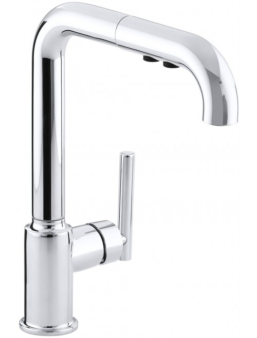 KOHLER K-7505-CP Purist Primary Pullout Kitchen Faucet