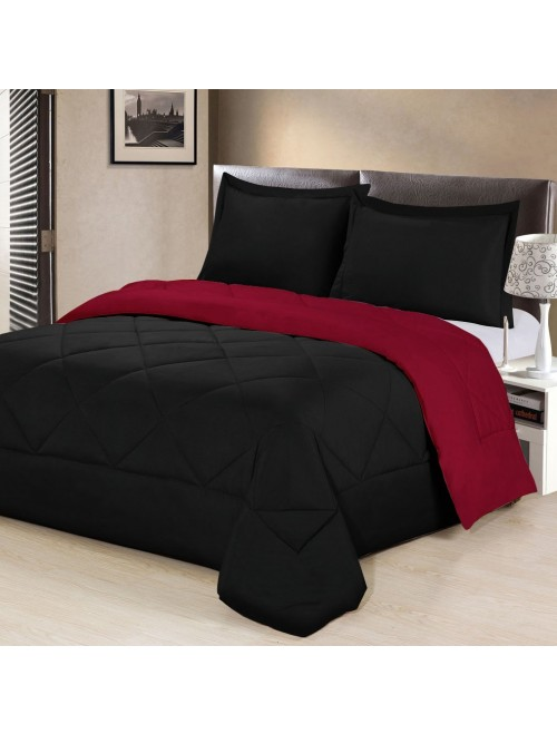 Aurora Bedding 3 Piece Reversible Comforter Set