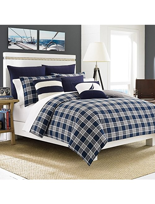 Nautica Eddington Comforter Set, Full/Queen, Navy