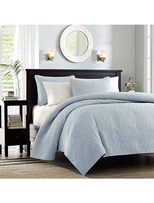 Madison Park Quebec 3 Piece Coverlet Set, King, Blue