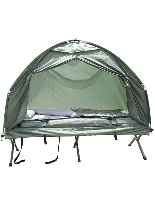Outsunny Compact Portable Pop-Up Tent/Camping Cot
