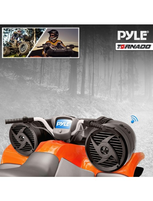 Pyle Tornado Bluetooth Waterproof ATV Speaker Sound System