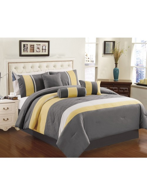 Chezmoi Collection 7-piece Sunvale Comforter Bedding Set