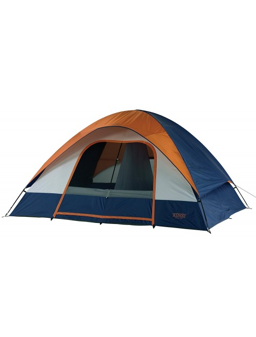 Wenzel Salmon River 2 Room Family Dome Tent, Orange/Blue
