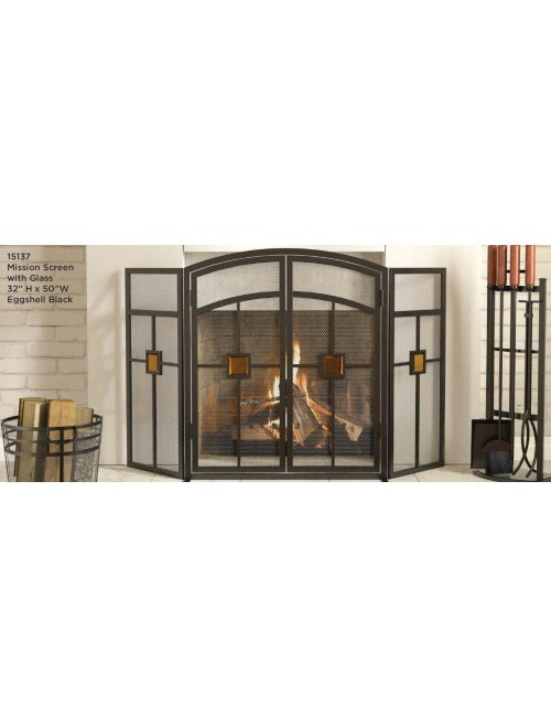 Panacea Products 3-Panel Mission Fireplace Screen