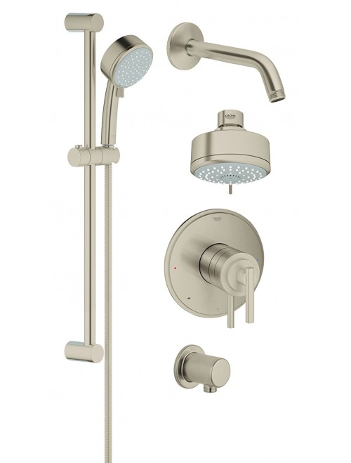 Grohflex Timeless 4-Spray 2-Function Pressure Balance Shower System