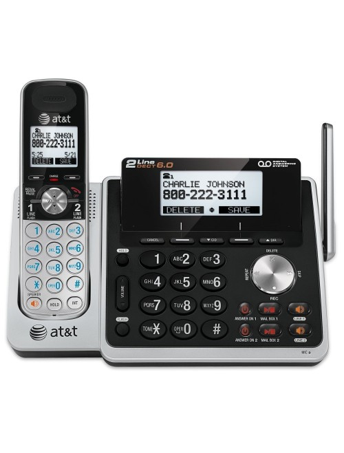AT&T 2-Line Expandable Cordless Phone with Answering System
