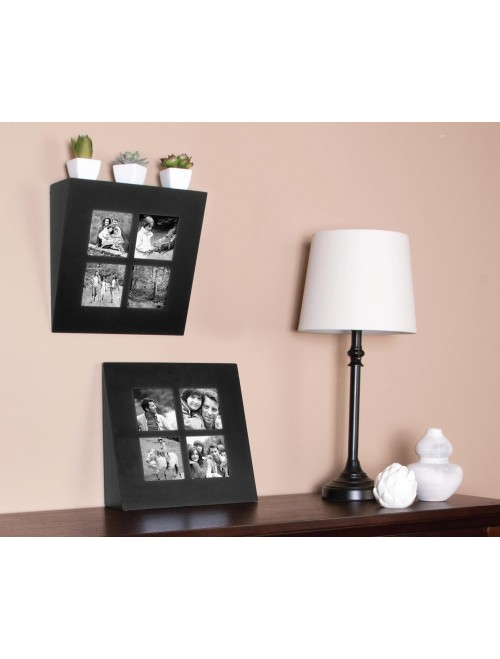 Gallery Solutions Black Wedge Ledge Frame