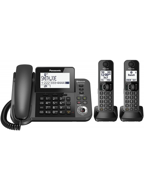 Panasonic Link2Cell Bluetooth Corded / Cordless Cordless Phone with 2 Cordless Handsets