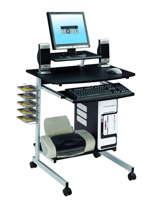 Mobile & Compact Complete Computer Workstation Desk