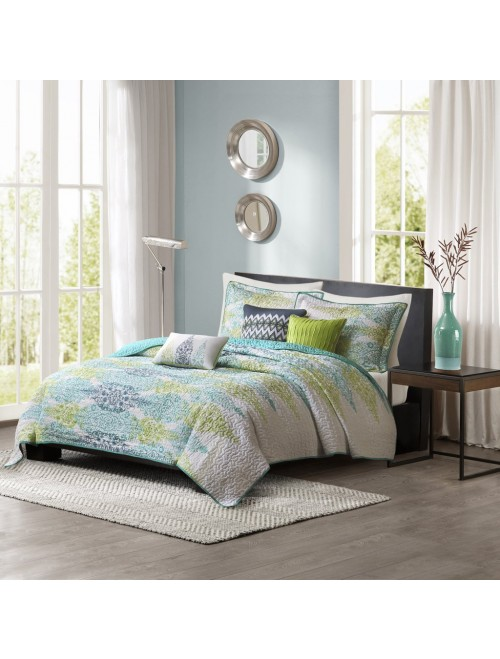 Madison Park Sonali 6 Piece Quilted Coverlet Set