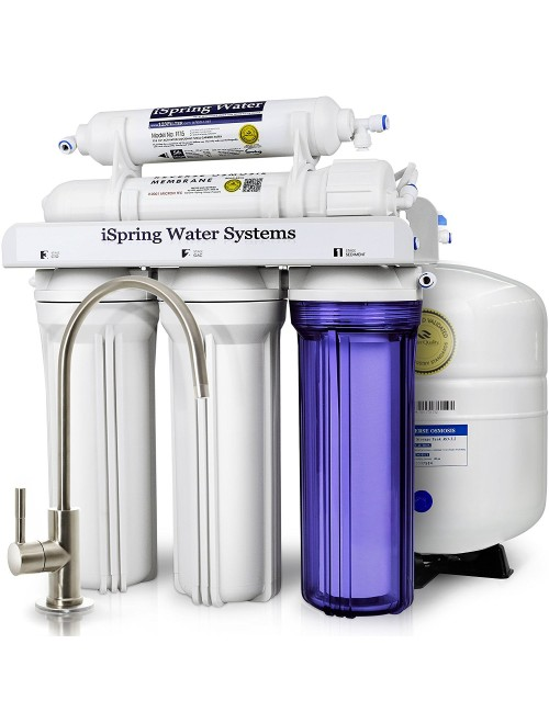 iSpring Certified 5-Stage Reverse Osmosis Drinking Water Filter System