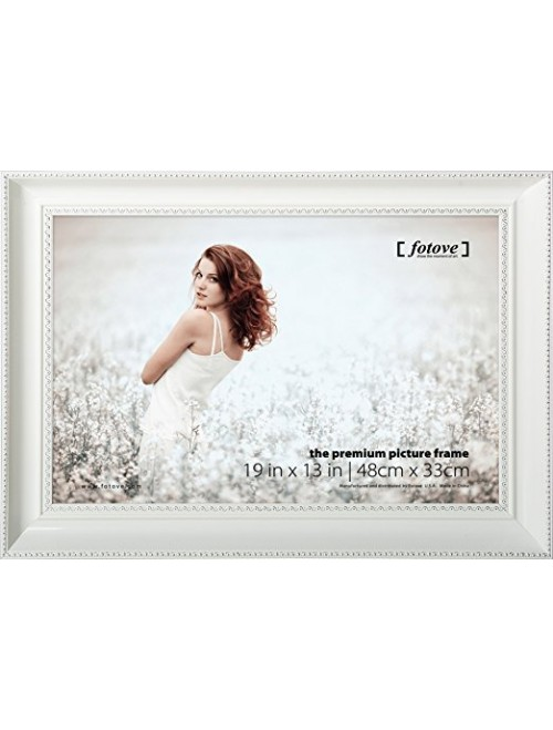 Fotove 13x19 White Crown Picture Photo Frame