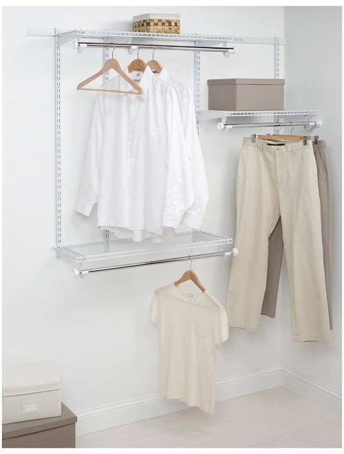 Rubbermaid Closet Starter Kit, White, 3-6 Foot