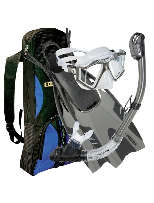 U.S. Divers Panoramic View Lux Platinum Snorkel Set