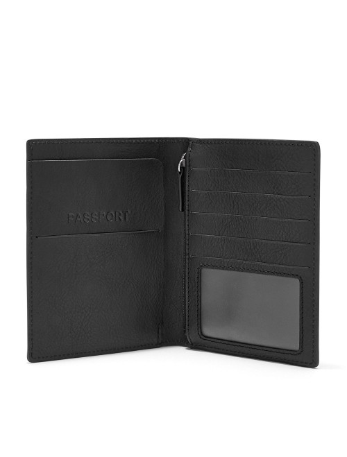 Fossil Passport Case Black