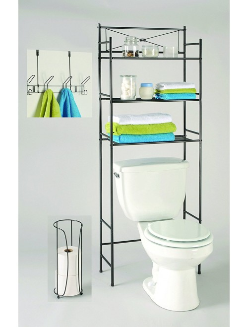 LDR Bathroom Storage Space Saver Set 3 Piece Bronze Finish