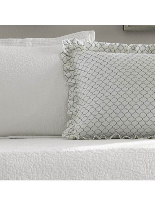 Stone Cottage Trellis White 5Piece Daybed Set