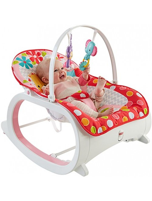 Fisher-Price Infant-to-Toddler Rocker, Flowery Chevron