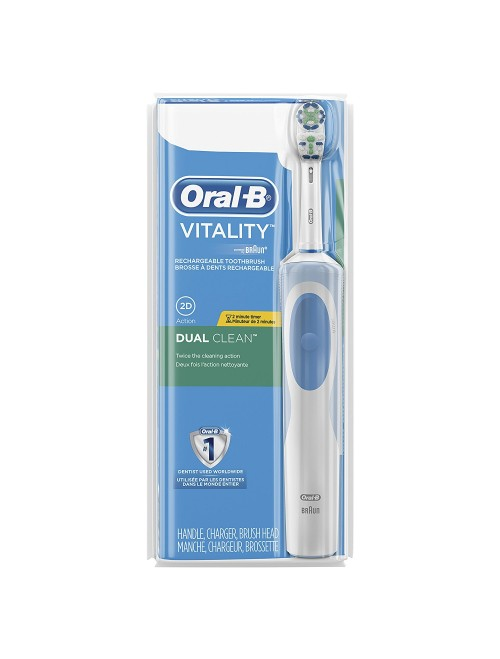 Oral-B Vitality Dual Clean Rechargeable Battery Electric Toothbrush