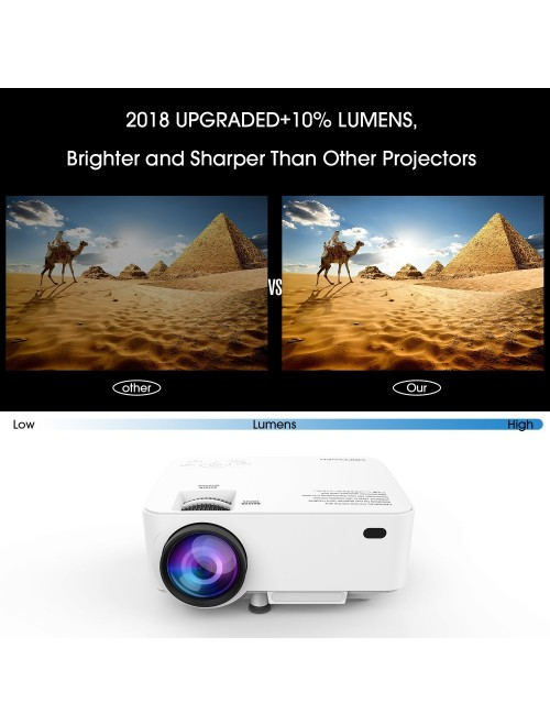 DBPOWER T20 LCD Mini Movie Projector+10% Brighter