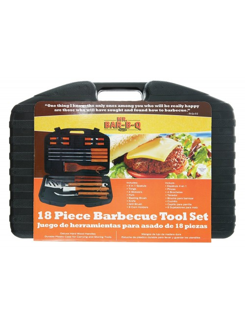 Mr. Bar-B-Q 18-Piece Stainless-Steel Barbecue Set