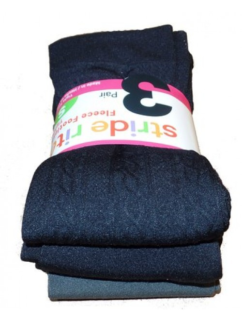 Stride Rite Girls Fleece Footless tights, 3 pairs (Small)