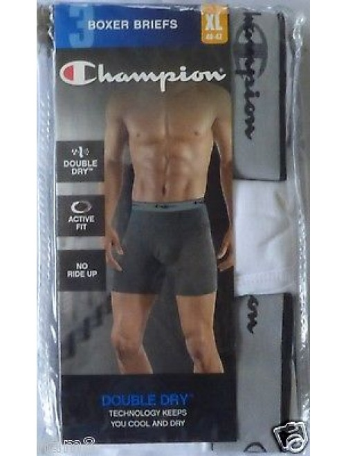 Champion Men's 3 Pack Performance Boxer Brief (XL)