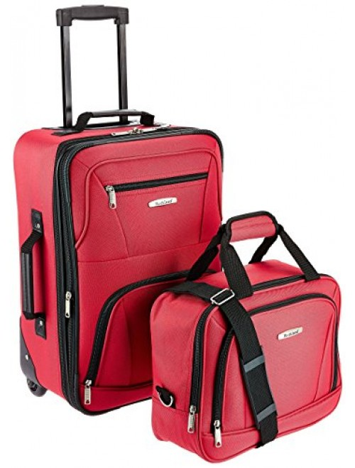 Rockland 2 Piece Luggage Set, Red