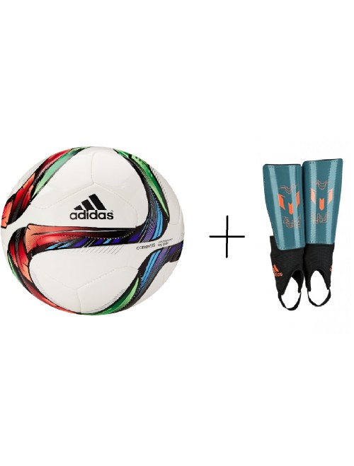 ADIDAS SOCCER BALL + SHIN GUARDS