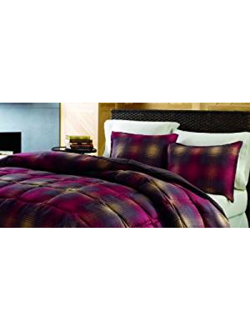 Eddie Bauer Nordic Plaid Comforter Set, Raisin, King