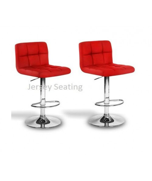 Jersey 2 x PU Leather Bar Stool
