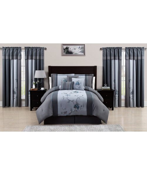 Chezmoi Collection Embroidered bedding Set