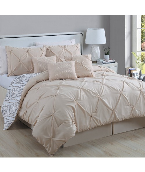Avondale Manor Essex 7 Piece Pinch Pleat Comforter Set