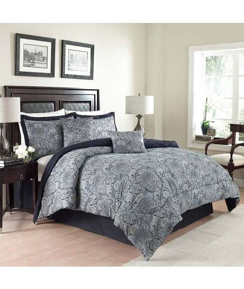 Traditions by Waverly 6-Piece Paddock Shawl Comforter Set