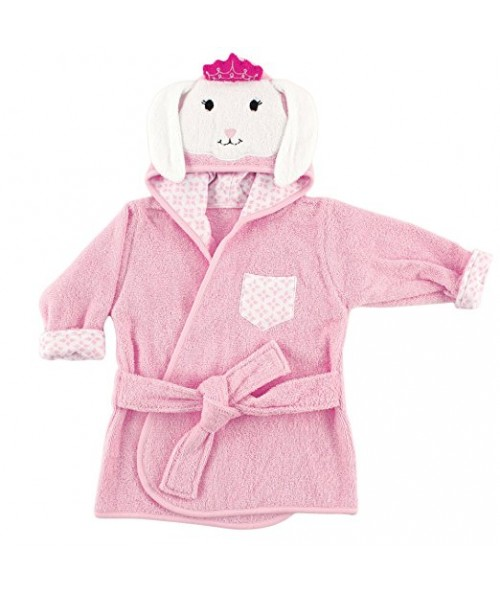 Hudson Baby Animal Face Hooded Bath Robe